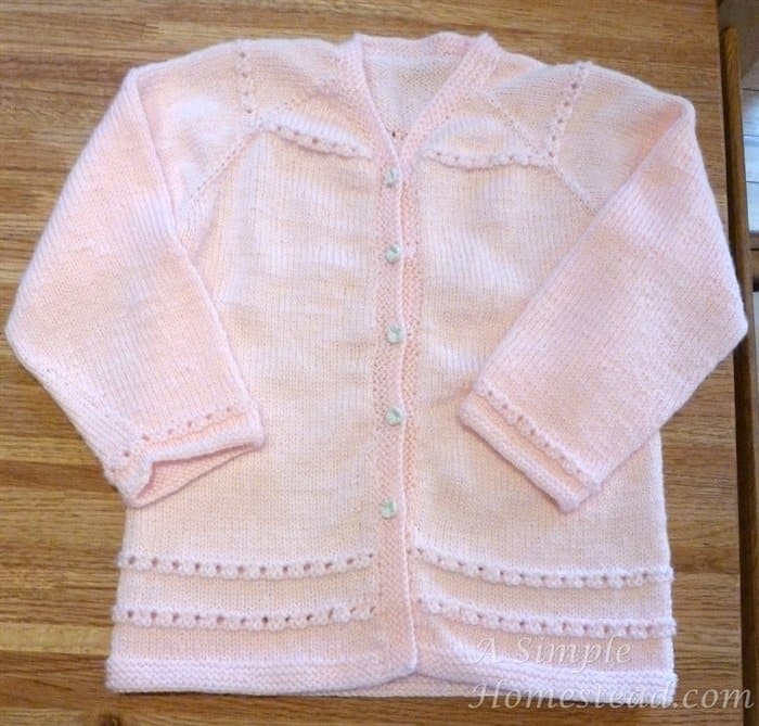 FO Friday – designing a cardigan