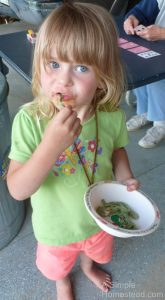 Spinach pasta - Little Chick loves it!