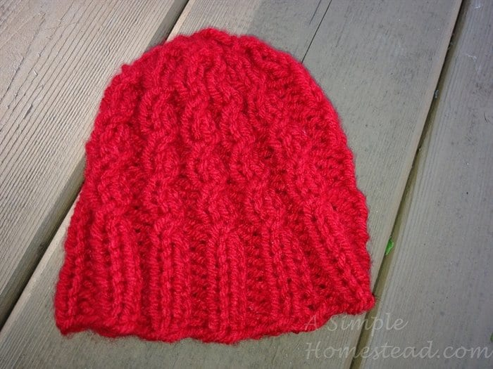 Mock Cable Baby Hat Pattern images