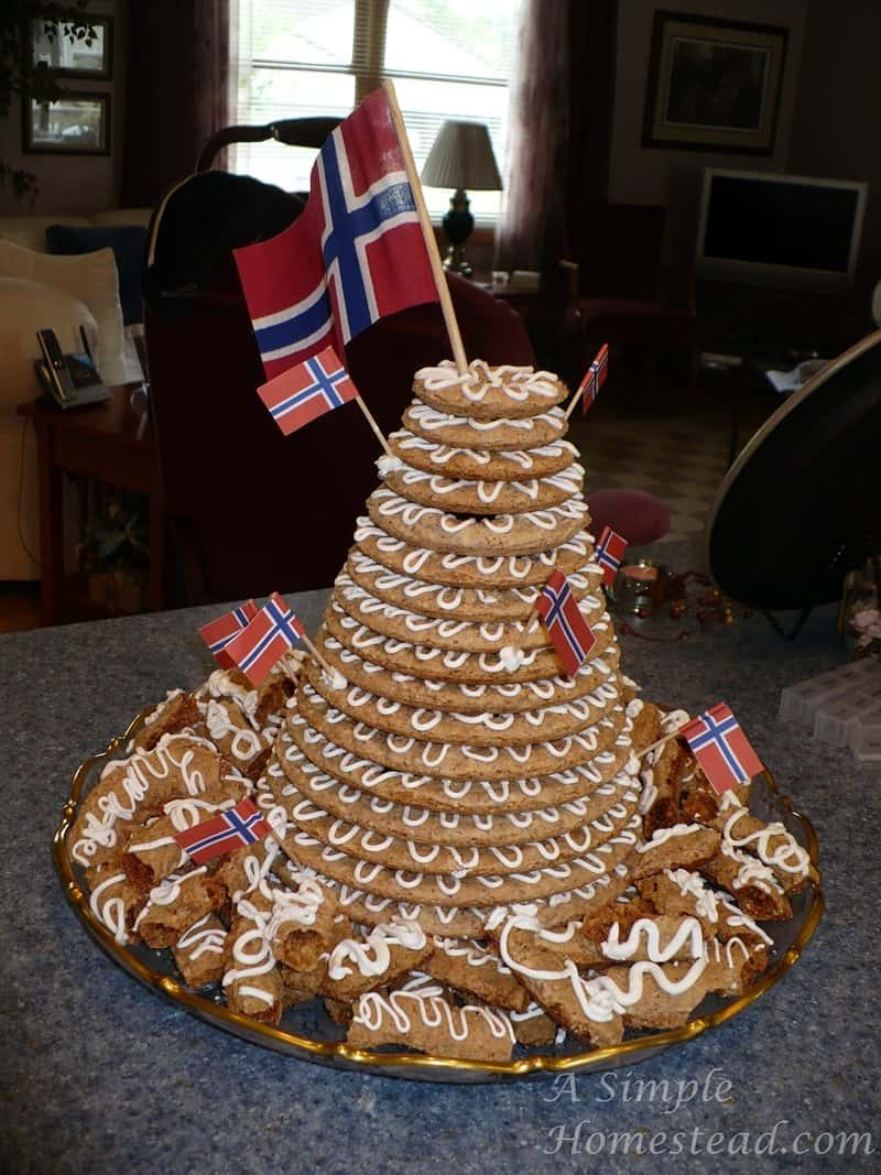 kransekake norwegian wedding cake 30 days of gratitude day 22 a simple homestead 16666
