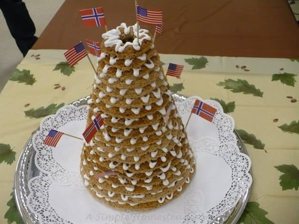 kransekake norwegian wedding cake kransekake almond cake a simple homestead 16666