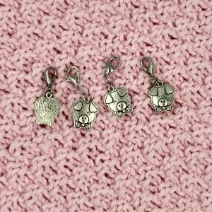 pig charm stitch markers progress keepers