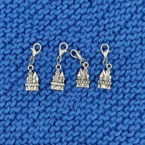 castle charm stitch marker progress keeper
