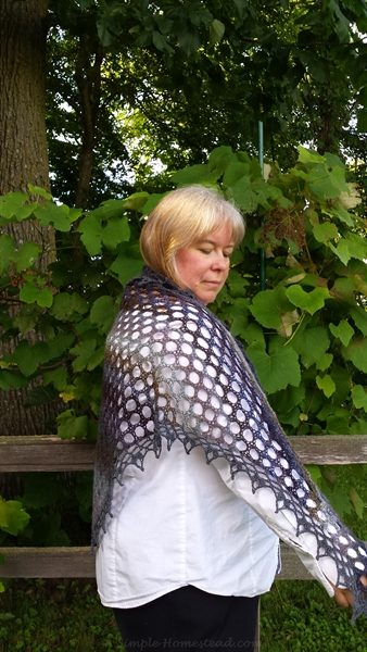 Mourning Dove shawl